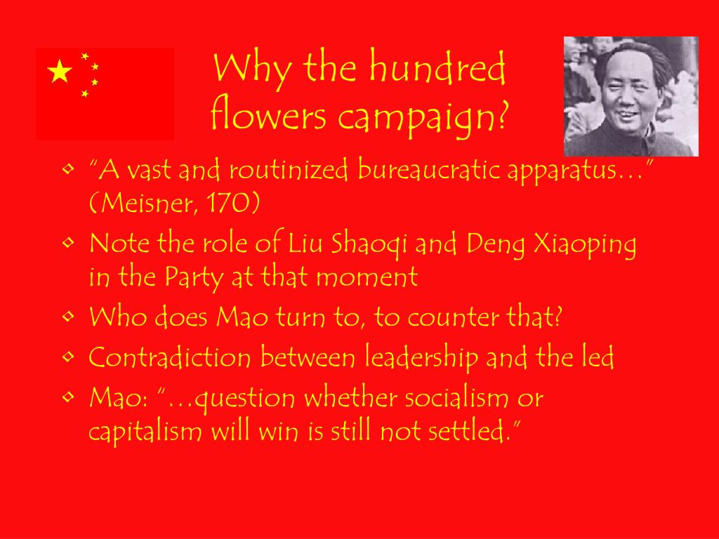 Why the hundred flowers campaign?