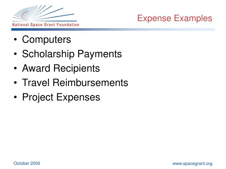 Expense Examples