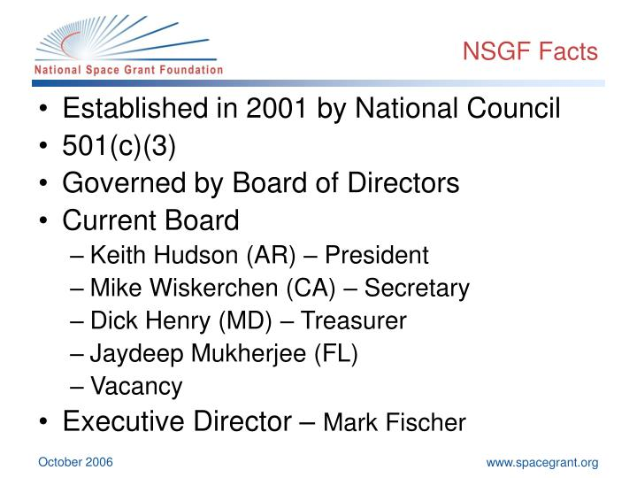NSGF Facts