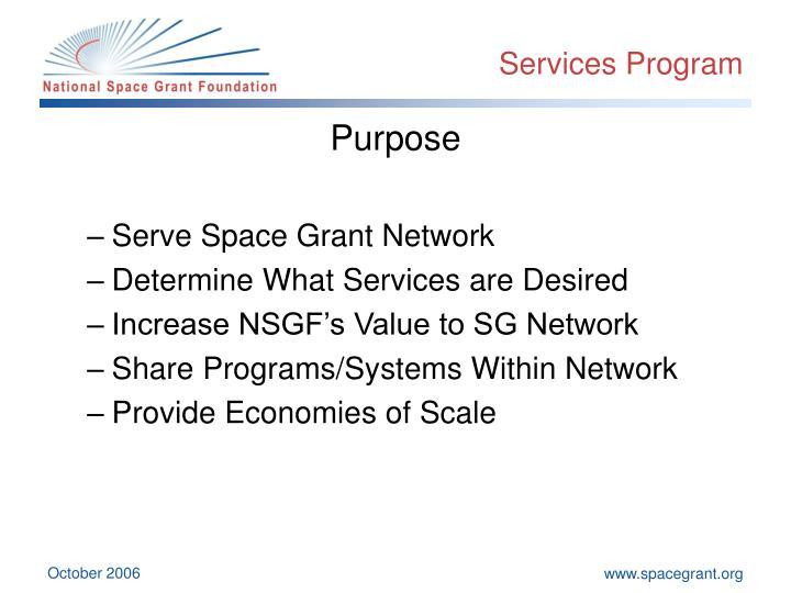 Services Program