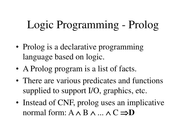 Logic Programming - Prolog