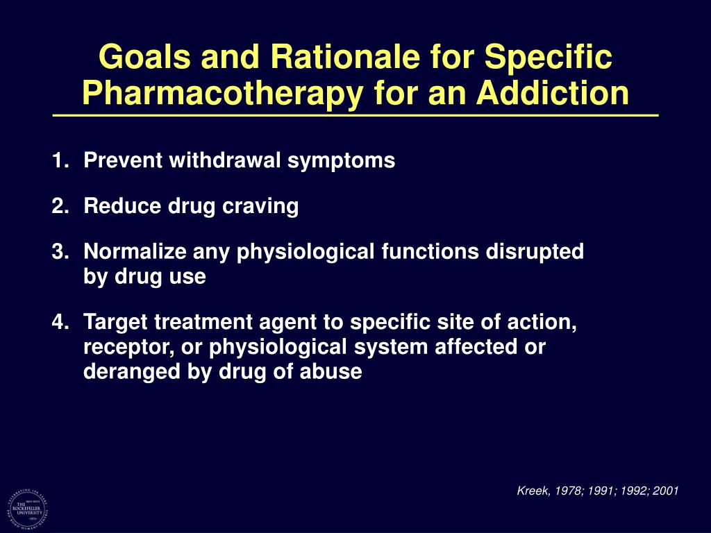 Goals and Rationale for Specific