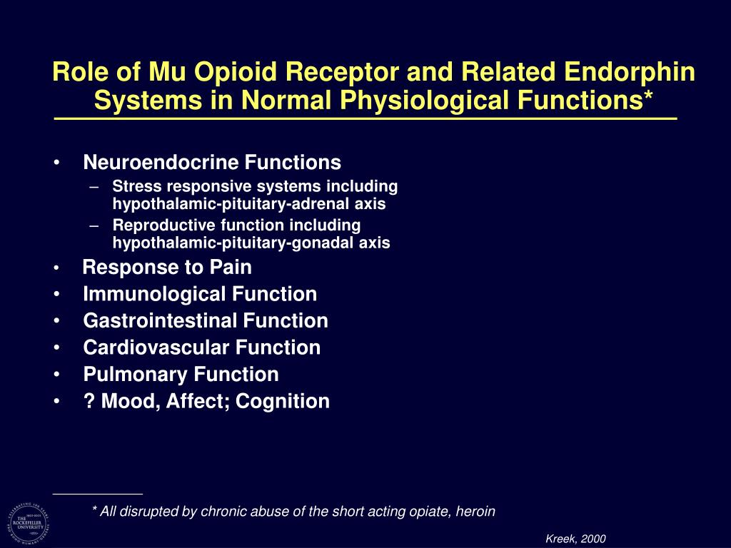 Role of Mu Opioid Receptor and Related Endorphin