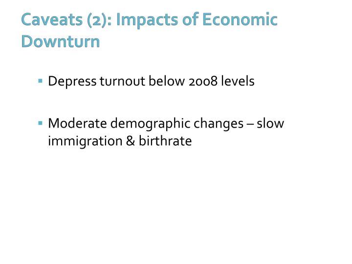 Caveats (2): Impacts of Economic Downturn