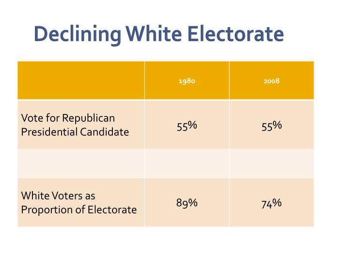 Declining White Electorate