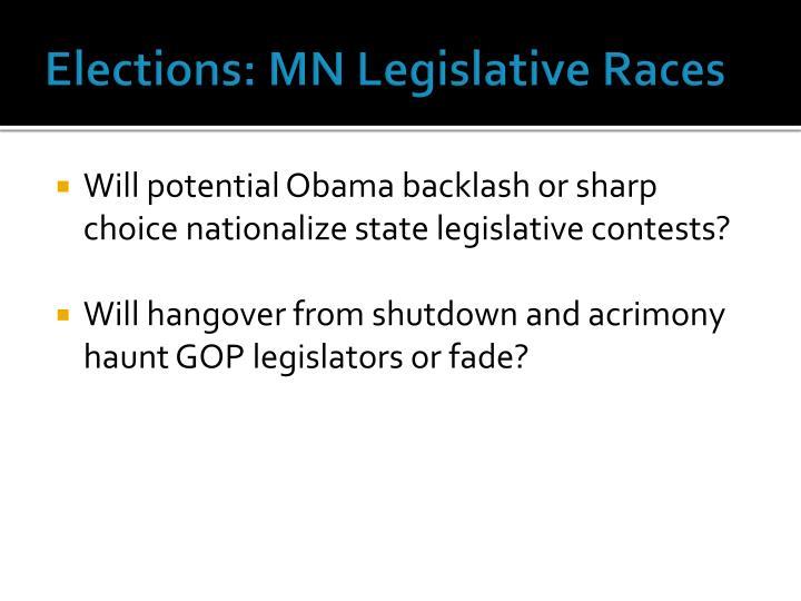 Elections: MN Legislative Races
