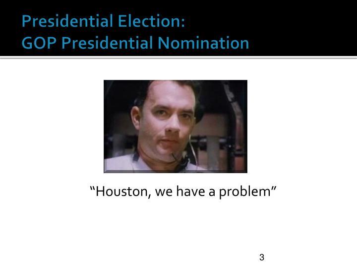 """Houston, we have a problem"""