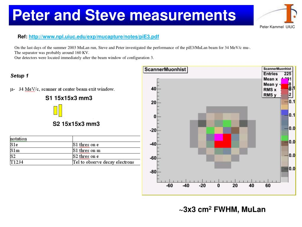Peter and Steve measurements