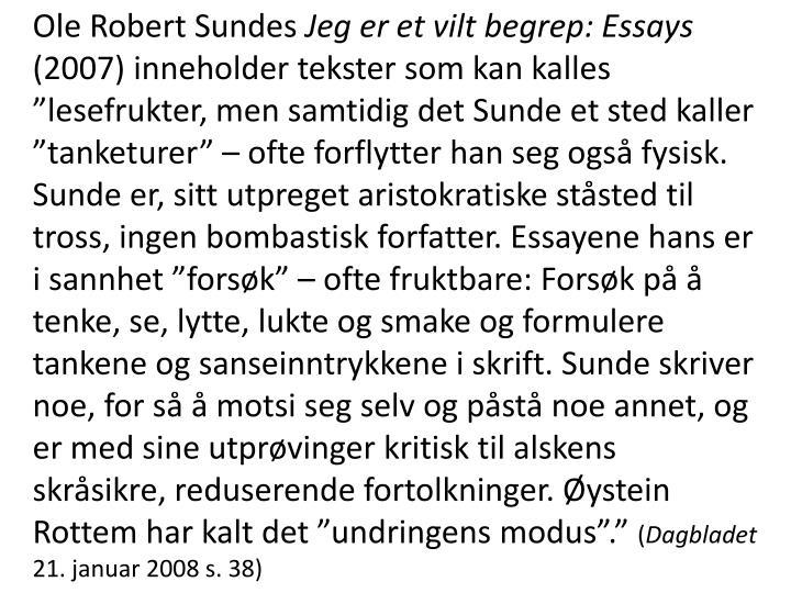 Ole Robert Sundes