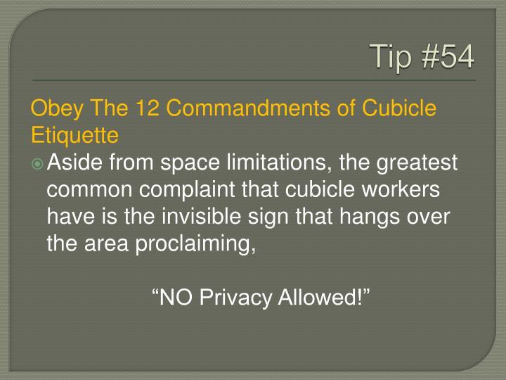 Tip #54