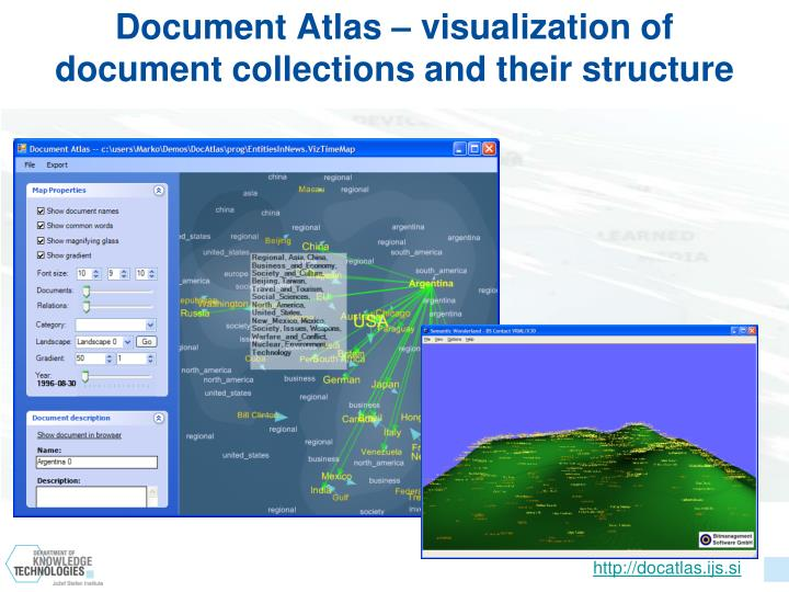 Document Atlas – visualization of document collections and their structure