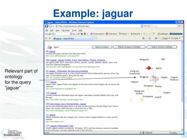 Example: jaguar