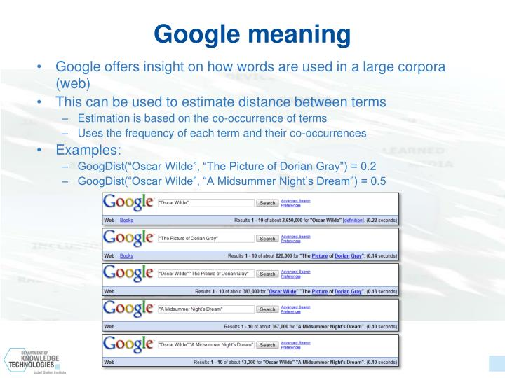 Google meaning