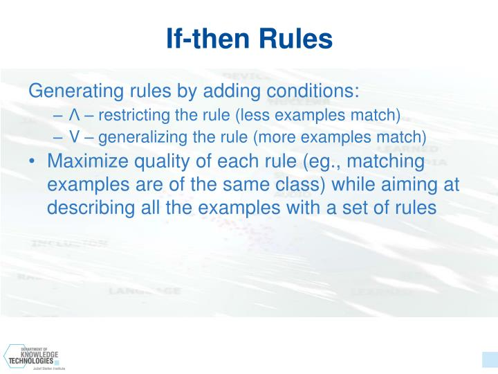 If-then Rules