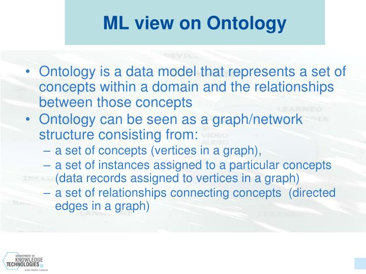 ML view on Ontology