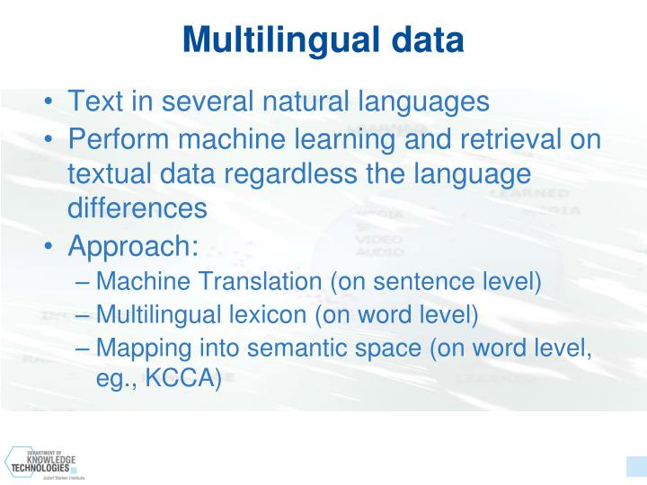 Multilingual data
