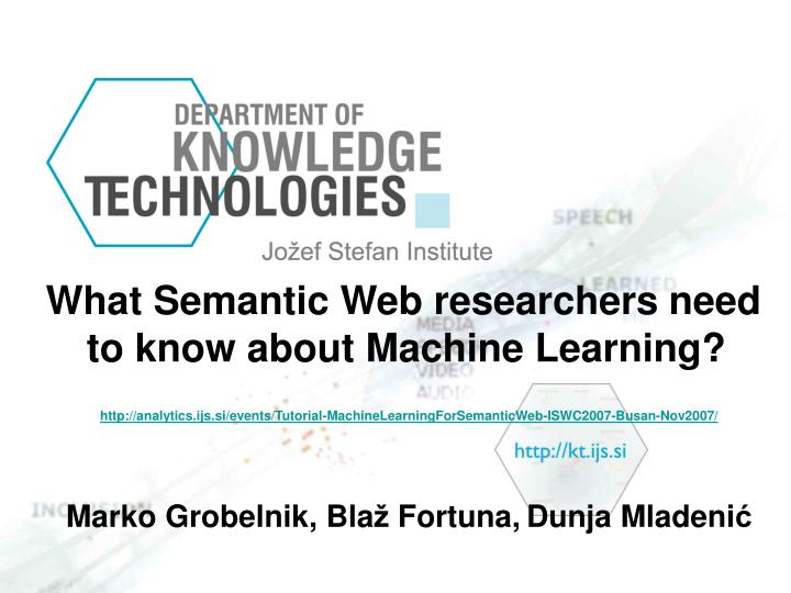 What Semantic Web researchers need