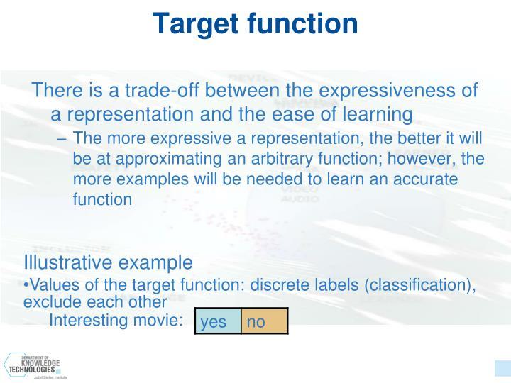 Target function