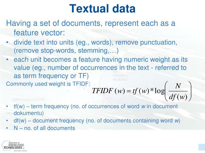 Textual data