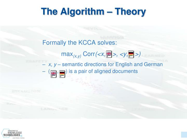 The Algorithm – Theory