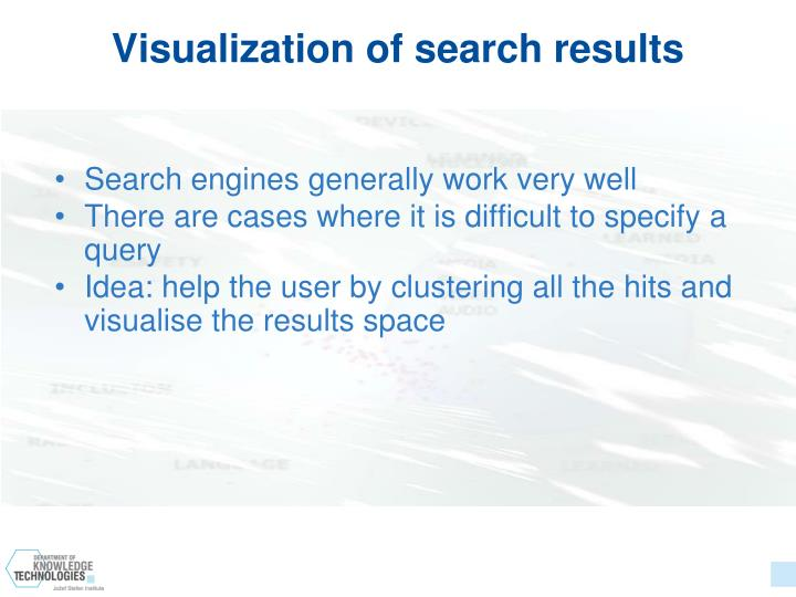 Visualization of search results