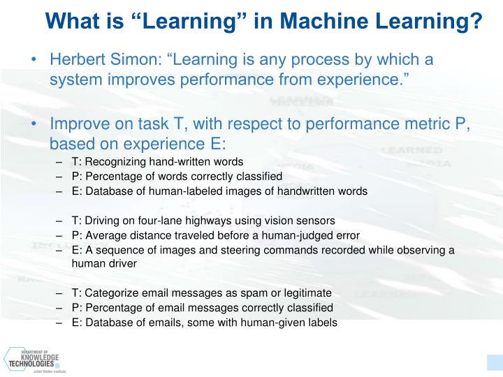 "What is ""Learning"" in Machine Learning?"