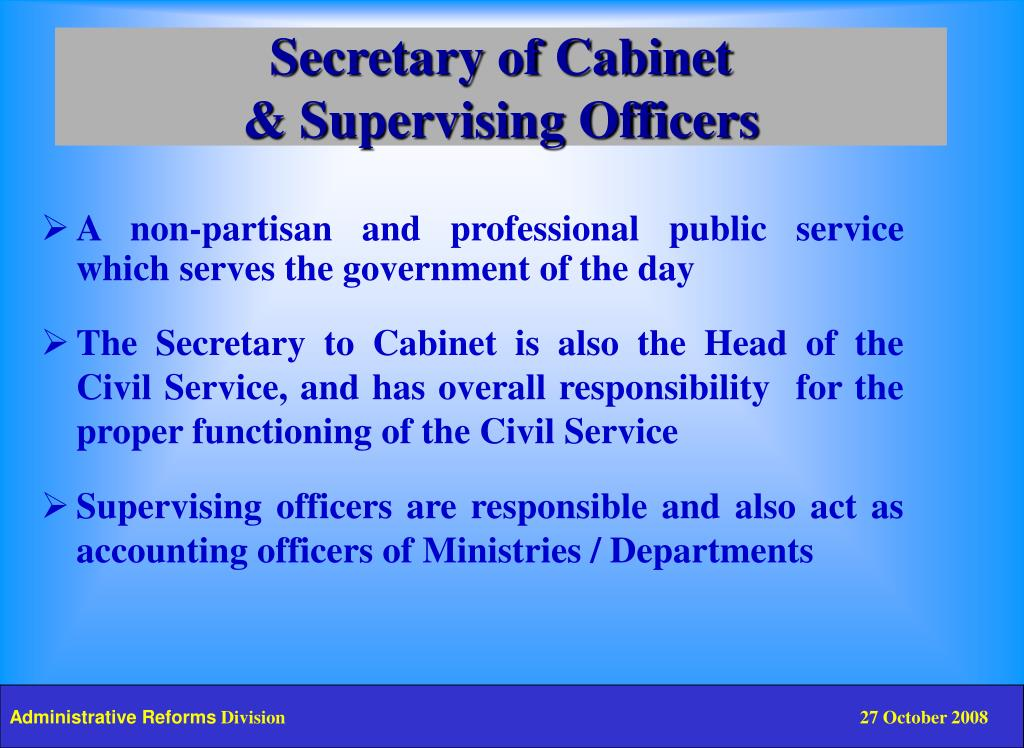Secretary of Cabinet