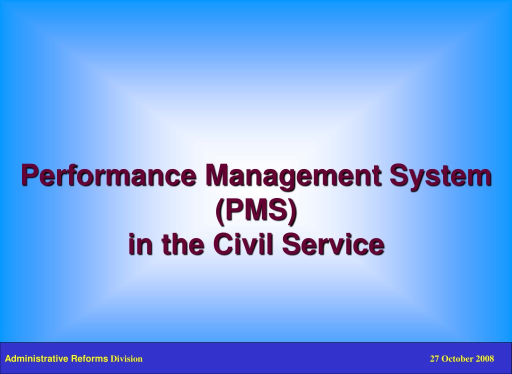Performance Management System (PMS)