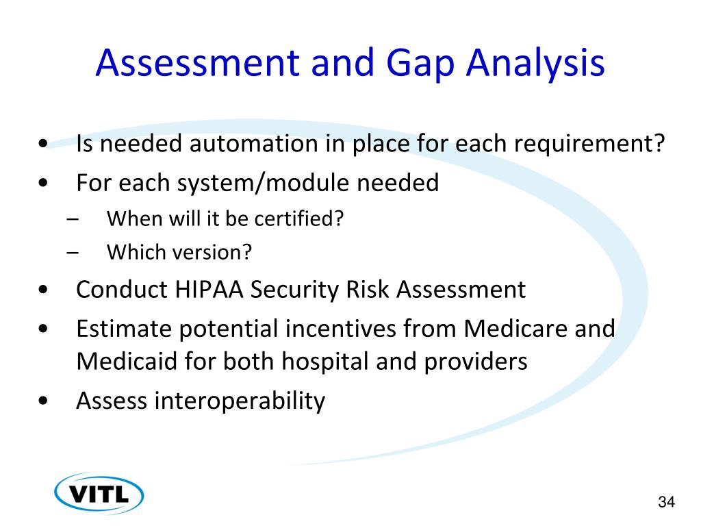 Assessment and Gap Analysis