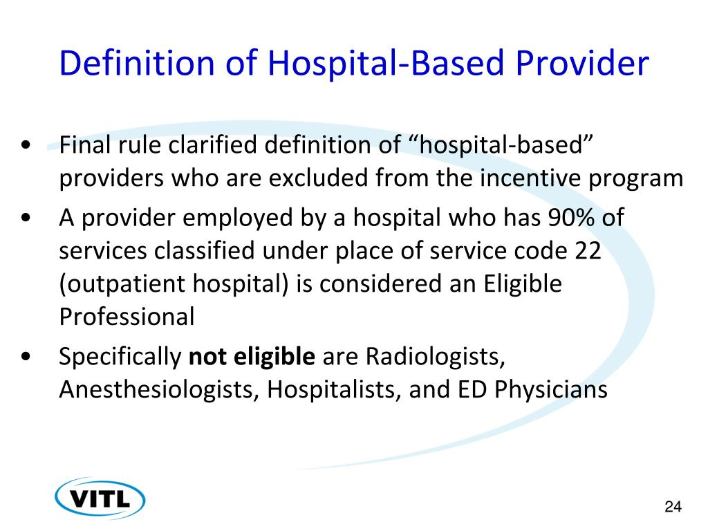 Definition of Hospital-Based Provider