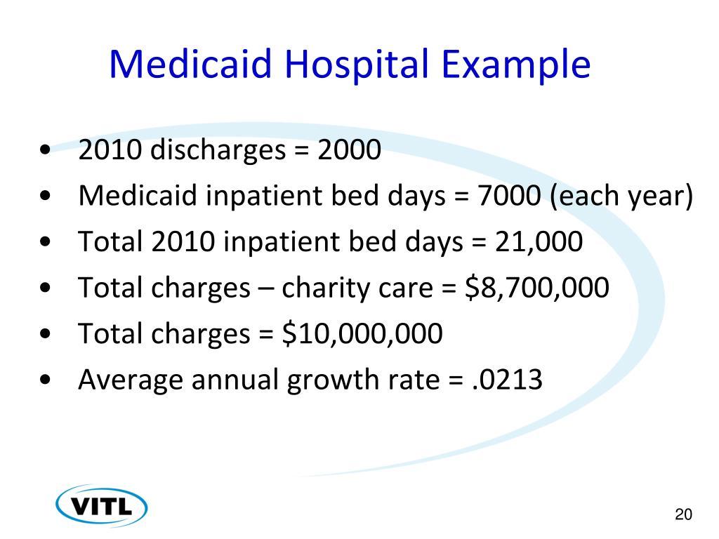 Medicaid Hospital Example