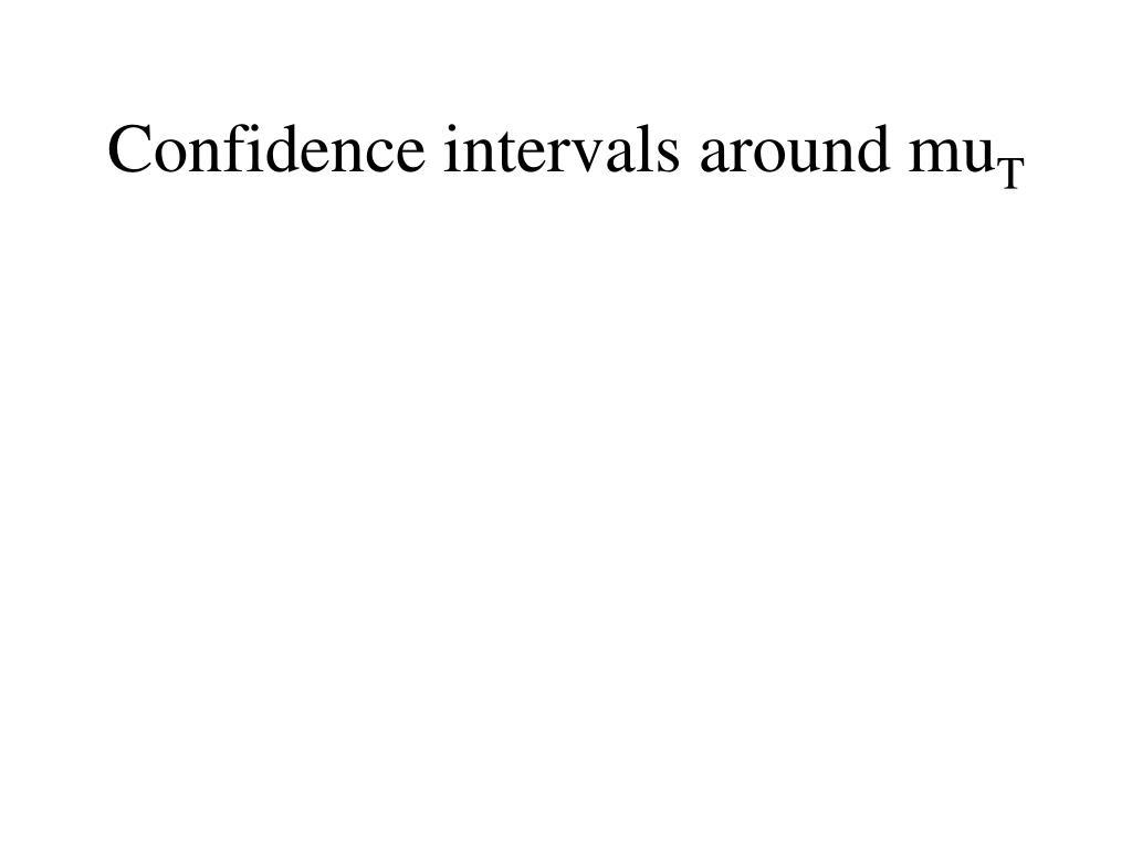 Confidence intervals around mu