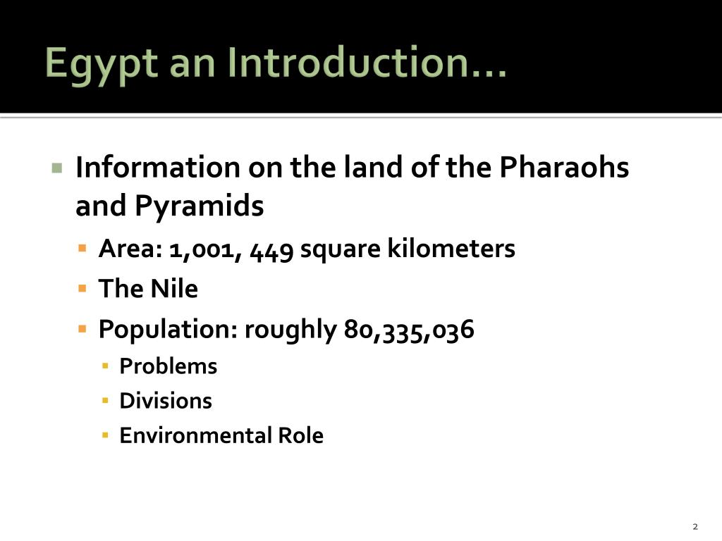 Egypt an Introduction…