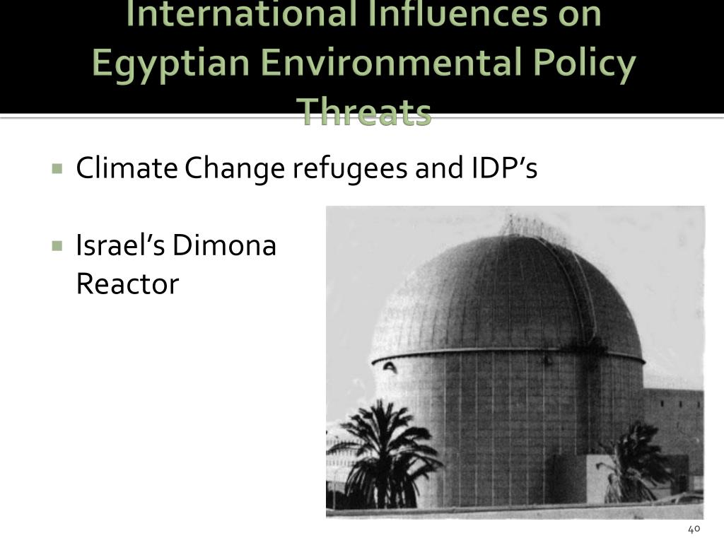 International Influences on Egyptian Environmental Policy Threats
