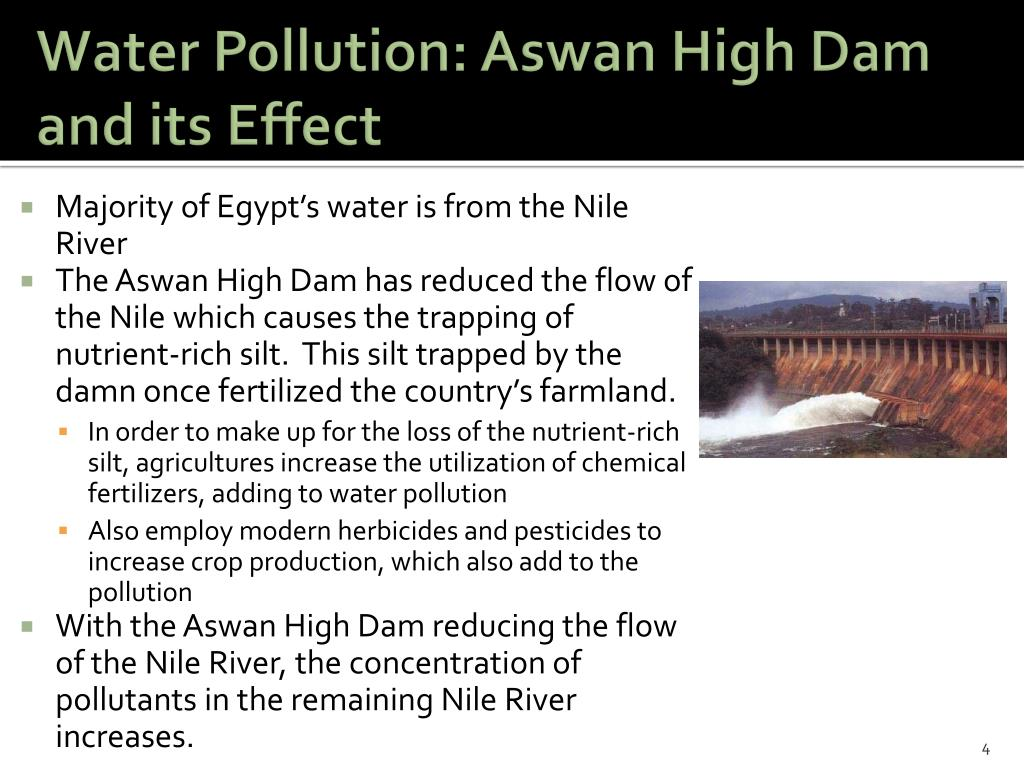 Water Pollution: Aswan High Dam and its Effect