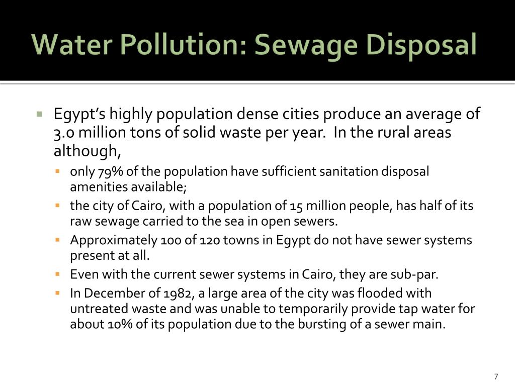 Water Pollution: Sewage Disposal