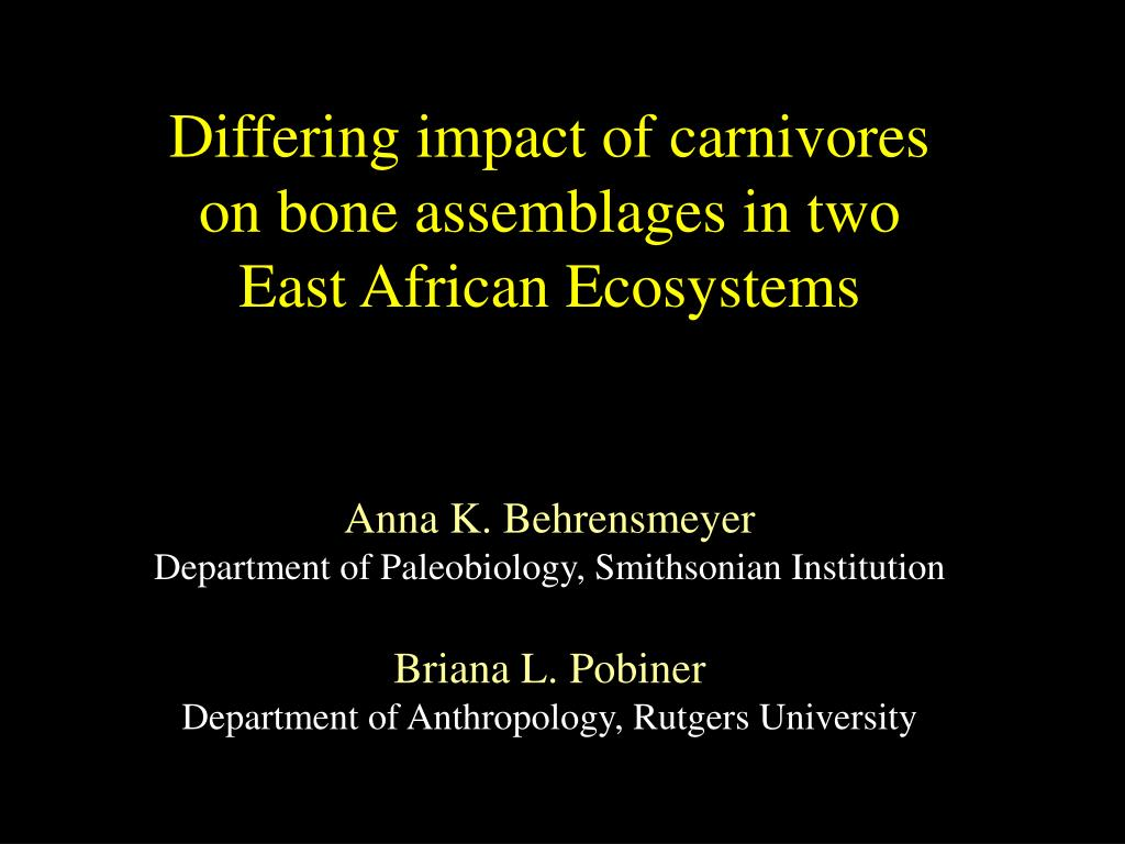 Differing impact of carnivores