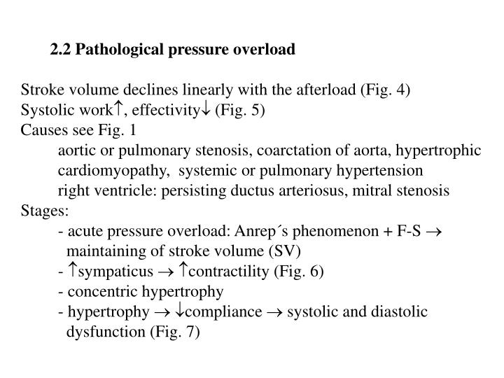 2.2 Pathological pressure overload