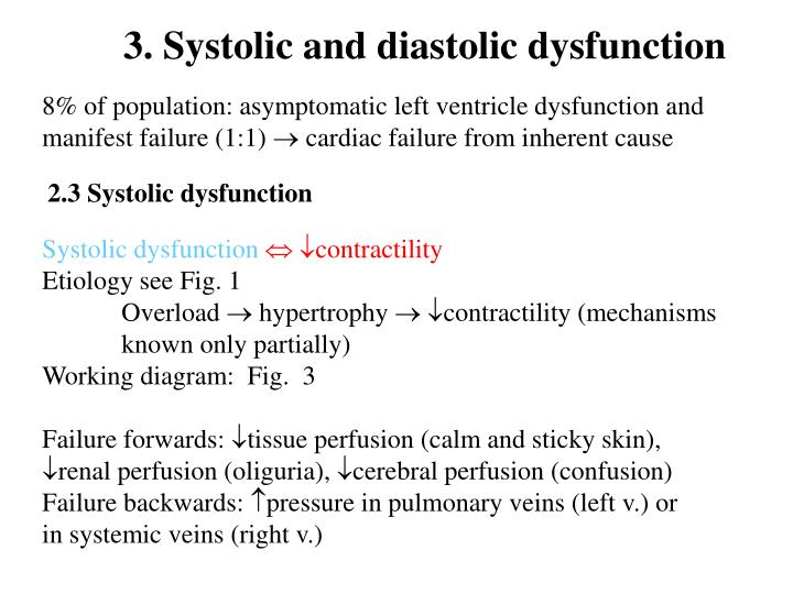 3. Systolic and diastolic dysfunction