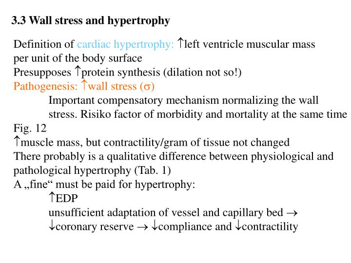 3.3 Wall stress and hypertrophy