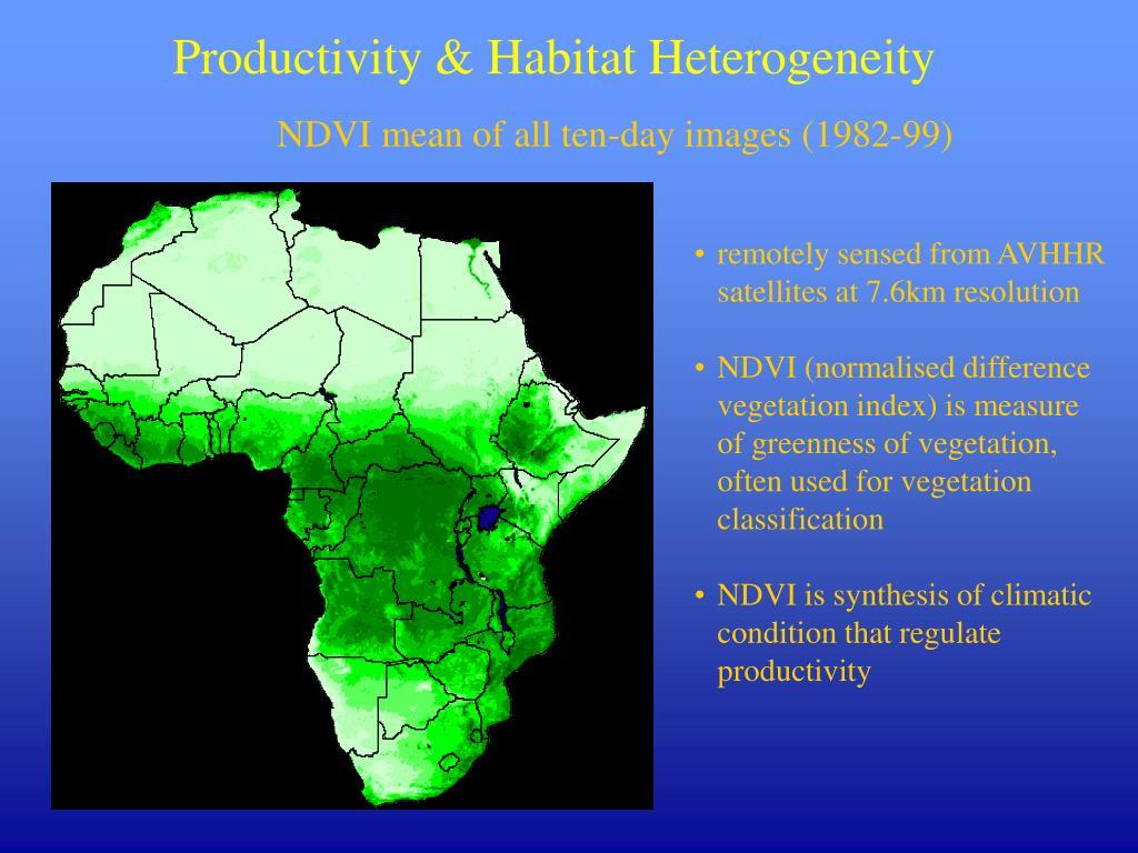 Productivity & Habitat Heterogeneity