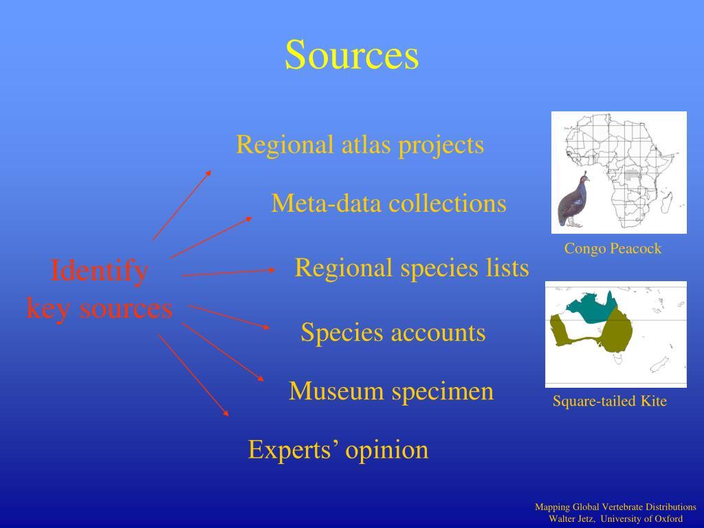 Identify key sources