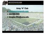 army a club www goarmysports com 845 938 2322 douglas fillis@usma edu