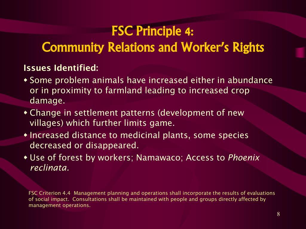 FSC Principle 4: