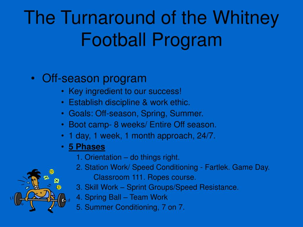The Turnaround of the Whitney Football Program