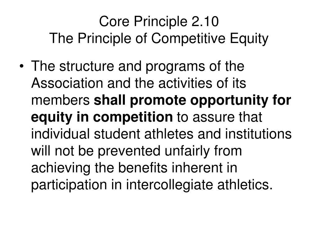 Core Principle 2.10