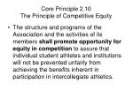 core principle 2 10 the principle of competitive equity