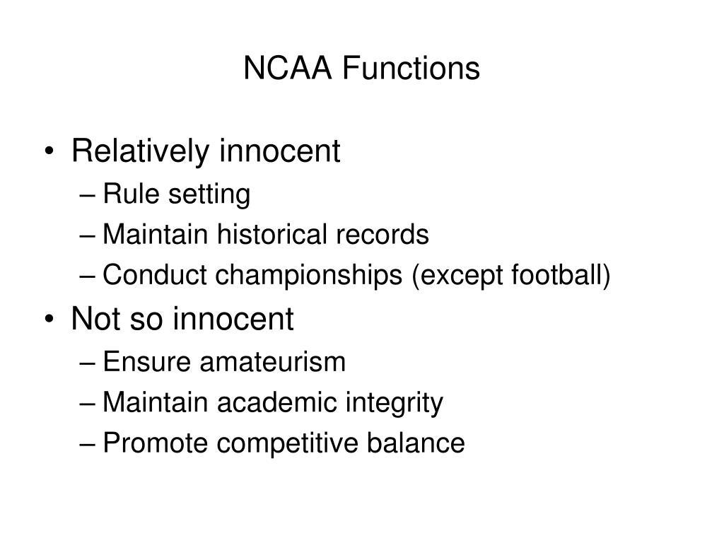 NCAA Functions
