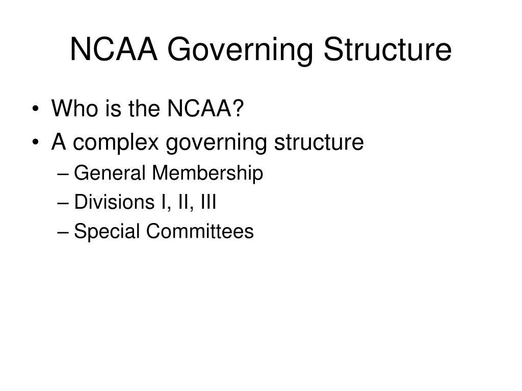 NCAA Governing Structure