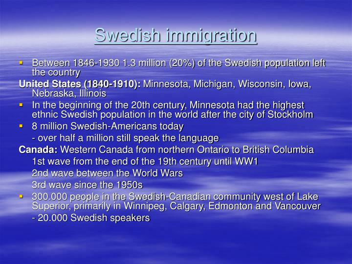 sweden and canada immigration comparison We compare intergenerational mobility across canada, sweden and the united   ity (eg immigrants vs natives) because it is only informative about rates of.
